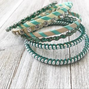 Jewelry - Blue and Silver Bangle Set